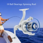 10BB Ball Bearings Fishing Reel Spinning Reel Fishing Tackle Left/Right Interchangeable Collapsible Handle