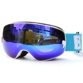 Children Skiing Snowboarding Skating Goggles UV Protection Anti-fog Wide Spherical PC Lens Anti-slip Strap Helmet Compatible