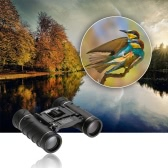 Mini Compact 20x22 High Powered Binocular HD Binocular Telescope Hunting Bird Watching Wildlife Boating with Lens Cloth Carrying Pouch Lanyard