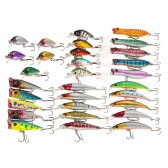 30pcs Assorted Size Minnow Wobbler Fly Fishing Lures Crankbaits Popper Carp Fishing Artificial Hard Baits Kit Fishing Accessories Swimbaits