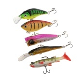 Lixada 44pcs Lure Kit Set Crankbait Minnow Popper VIB Paillette Hard Spoon Crank Soft Baits Fishing Hooks