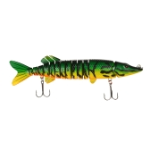 "Lixada 12"" / 218g Lifelike Multi-jointed 13-segement Pike Muskie Fishing Lure Swimbait Crankbait Hard Bait Fish Treble Hook Tackle"