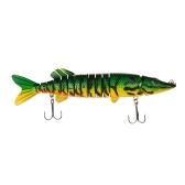 "Lixada 12"" / 218g Lifelike Multi-jointed 13-segement Pike Muskie Fishing Lure Swimbait Crankbait Hard Bait Fish Treble Hook Tackle"