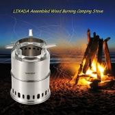 Lixada Potable Stainless Steel Wood Burning Camping Stove Furnace Burner Assembled Stove