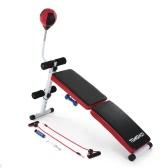 TOMSHOO調節可能な折りたたみの低下ABベンチ折りたたみ可能な腹部ベンチプレスの体重ジムABエクササイズベンチとスピードボールホームジムフィットネスエクササイズトレーニング