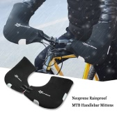 ROCKBROS Neoprene Rainproof Winter Unisex MTB Motor Cycling Handlebar Bar End Mittens Mitts Gloves Mountain Bicycle Bike Hands Warmer Hand Covers
