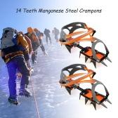 ギアアイゼンアイスグリッパークランポン牽引装置登山氷河旅行アイスウォーキングクライミング14点マンガン鋼