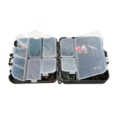 155PCS Fishing Tackle Box New Carp Weights Safety Clips Hooks Swivels Hair Rigs