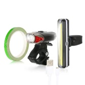Lixada USB充電式自転車ライトセット