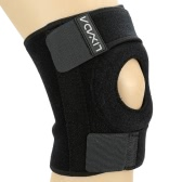 Lixada Adjustable Sports Leg Knee Support Brace Wrap Protector Pad Patella Guard 2 Spring Bars
