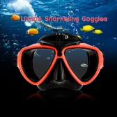 Lixada Adult Scuba Snorkeling Swimming Tempered Glass Diving Mask Goggles with Camera Mount