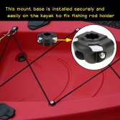 Boat Kayak a Fishing Rod Holder Mount Base Nylon Mount Base Tackle Kit Accessory