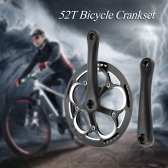 52T Crank Set Fixed Gear Bicycle Aluminum Chainwheel Crank Set Bike Sprocket Crankset