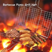 Outdoor Garden Folding Charcoal Barbecue Grill Stainless Steel BBQ Barbecue Picnic Grill Cooking Grid Net