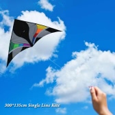 300*135cm Single Line Kite Huge Delta-shape Kite Flyer Triangle Assembled Kite Children Adults For Fun Perfect for Vacation