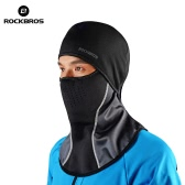 ROCKBROS Water-repellent Thermal Cycling Fleece Dust-proof Windproof Winter Neck Warmer Collar Face Mask Caps MTB Mountain Black Masks Guard Headwear Head Cover Snowboarding Skiing Outdoor