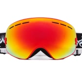 Adult Skiing Snowboarding Skating Goggles UV Protection Anti-fog Wide Spherical PC Lens Anti-slip Strap Helmet Compatible