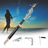Adjustable Telescopic 2.1/2.4/2.7m Fishing Rod Automatic Rod Sea Shore River Lake Fishing Rod with Stainless Steel Ends Field Cutting