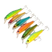 6pcs 8.5cm/9g Plastic Fishing Hard Baits Artificial Bass Fishing Minnow Baits Wobbler Fishing Tackle