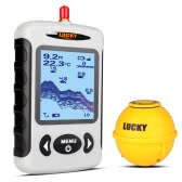 LUCKY Portable Professional Sounder Wireless Sonar Fish Finder Fishing Probe Detector Fishfinder with Dot Matrix