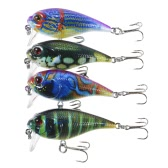 Lixada 4PCS 0.3-0.9m Diving Crankbait Fishing Lures 9g 55mm Artificial Bait Hard Fishing Lure Set Wobbler Bait with #8 Hooks