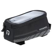 ROSWHEEL 自転車フロント フレーム バッグ ポーチ タッチ スクリーン ケース 5.7 で携帯電話を