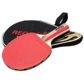 Long Handle Shake-hand Table Tennis Racket Ping Pong Paddle Bat Case Bag