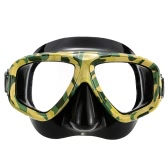 Lixada Adult Scuba Snorkeling Swimming Tempered Glass Diving Mask Goggles Camouflage