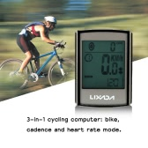 Lixada Multifunctional 3-in-1 Wireless LCD Bicycle Cycling Computer with Cadence Heart Rate Monitor Chest Strap Water-resistant