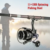11+1BB Ball Bearings 4:7:1 Ultra Smooth Spinning Fishing Reel Right/Left Interchangeable Fishing Reel for Freshwater Saltwater