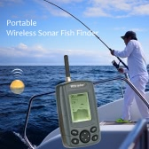 Portable Wireless Sonar Sensor Fish Finder Outdoor 125KHz Fishing Finder Fish Depth Alarm Detector Fishing Tackle