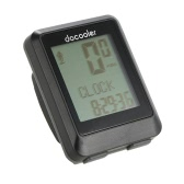 Docooler Bike Computer Wireless Bicycle Speedometer Odometer Cadence Bike 1 & 2 Option Temperature Cycling Riding Multi Function