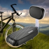 Bicycle Back Seat Cycling Bike Bicycle MTB PU Leather Soft Cushion Rear Rack Seat Children Seat with Back Rest