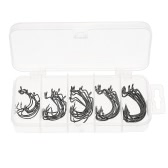 50pcs Assorted Fishing Hooks Set Box Sharpened Barbed Fishing Hook Mixed Size High Carbon Steel Fishing Gear Equipment Accessories