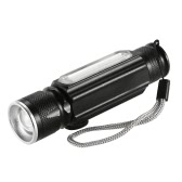 USB 180LM Flashlight with Magnet Handy LED Flashlight Rechargeable Torch Flash Light Pocket LED Zoom Lamp