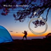 Wire Saw Camping Hiking Survival Saw Outdoor Survival Tool Kit Survival Gear