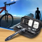 SAHOO自転車サイクリング乗馬キットタイヤ修理キット16 1マルチツールセットキットミニポータブルポンプ付き