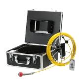 7インチLCDモニター960TVL CCDパイプライン検査カメラ防水ドレインパイプ下水検査カメラ工業用内視鏡バロスコープ検査システム(20mケーブル付)