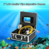 "7"" LCD Monitor 960TVL CCD Pipeline Inspection Camera Waterproof Drain Pipe Sewer Inspection Camera Industrial Endoscope Baroscope Inspection System with 20m Cable"