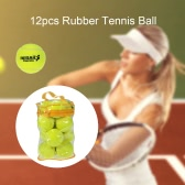 12PCS Tennis Training Ball Practice High Resilience Training Durable Tennis Ball Training Balls for Beginners Competition