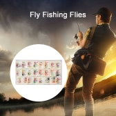 48/96pcs ​Fly Fishing Flies Fly Fishing Hook Feather Bait Nymph Emerger Fly Dry Flies Wet Flies