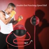 ダブルエンドパンチングスピードボール打撃パンチングボールソリッドレザースポーツ格闘技ボクシングのトレーニングギア