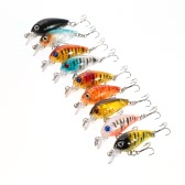 9pcs 4.5cm/4g Hard Bait Minnow Lure Fishing Bass Crankbait  Baits with 2 Hooks Swimbait Trout Fishing Tackle