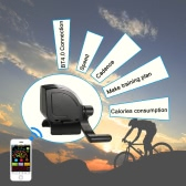 3LED Flashlight Wireless Cycling BT4.0 Smart Speed Calories Track Training Target Odometer Bike Meter Cadence Sensor