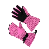 2Pcs Winter Women Windproof Thermal Skiing Skating Gloves