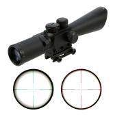 3.5 10X40E 照らされた戦術的なライフル銃望遠照準器緑レッドドット レチクル視力スコープ