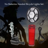 Bicycle Lights Set Kit Bike Safety Front Headlight Taillight Rear light Dynamo No Batteries Needed