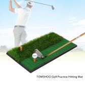 TOMSHOO Mini Golf Tee Golf Fairway Rough Turf Practice Training Mat Tee Shots Rough Shots Practice Golf Hitting Mat