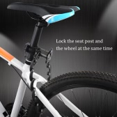 ROCKBROS Mini Foldable Chain Lock Bicycle Bike Cycle Security Lock Strong Black