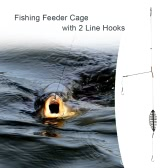 Fishing Bait Lure Cage with 2 Line Hooks Carp Feeder Fishing Tackle Accessories 7cm/9cm